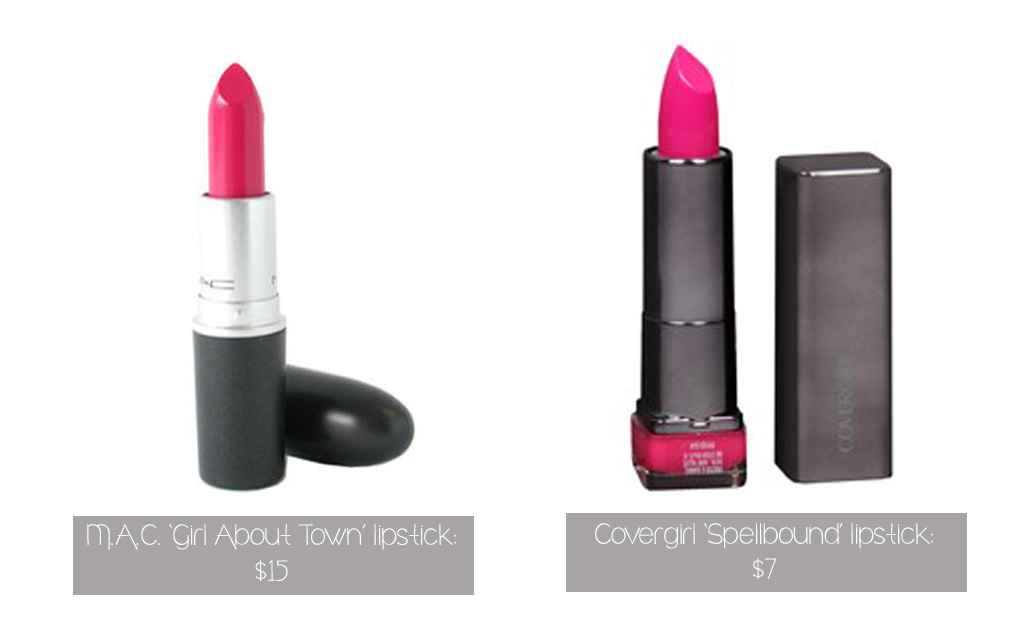 "M.A.C. 'Girl About Town': $15; Covergirl ""Spellbound': $7"